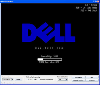 Screenshot: DRAC  Boot
