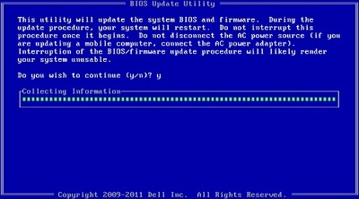 Screenshot: BIOS Update unter DOs